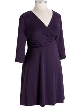Women's Plus: Women's Plus Matte Jersey Dresses - Purple Drama