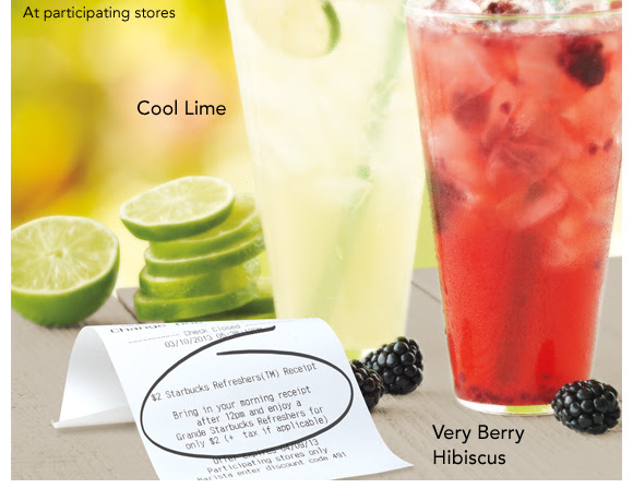 At participating stores, Cool Lime Very Berry Hibiscus