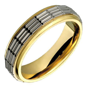 14k Yellow White Gold Rings 6mm Wide Custom Made Wedding