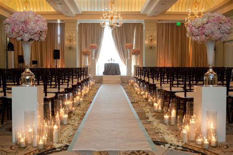 aisle runner, candles & rose petals. I might do this