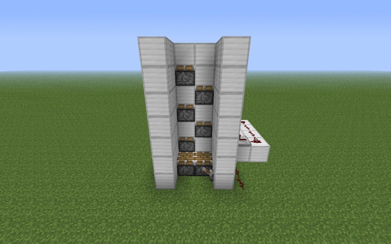 minecraft piston elevator tutorial