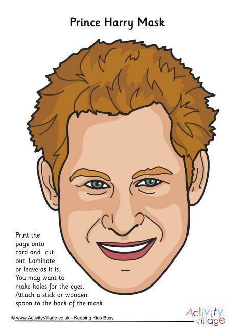 Prince Harry mask   Places to Visit   Royal wedding themes