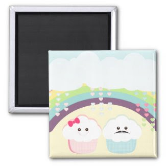 Cupcake Love Kawaii magnet