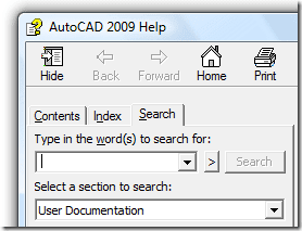 AutoCAD 2009 Help