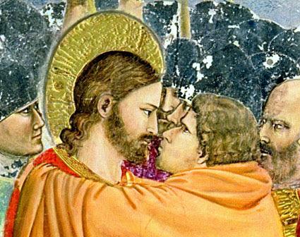 Giotto: Judas kissing Jesus