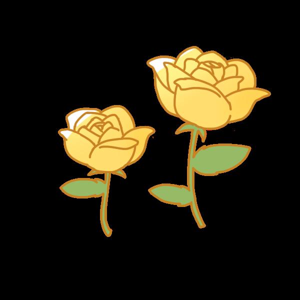 黄色いバラのイラスト かわいいフリー素材が無料のイラストレイン