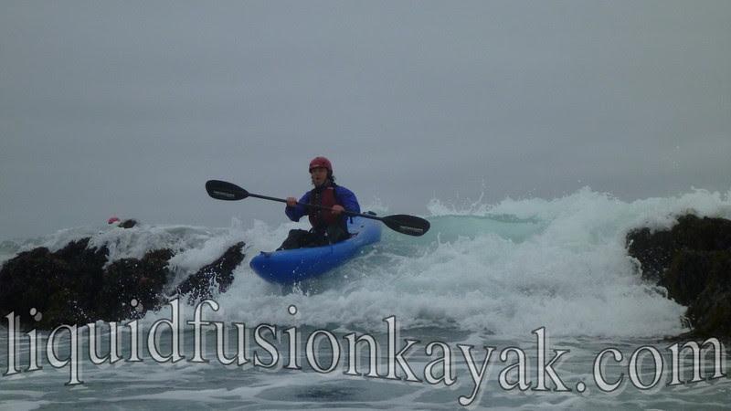 whitewater kayak ocean rock gardens mendocino