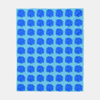 Blue Rose Design on Medium Blanket