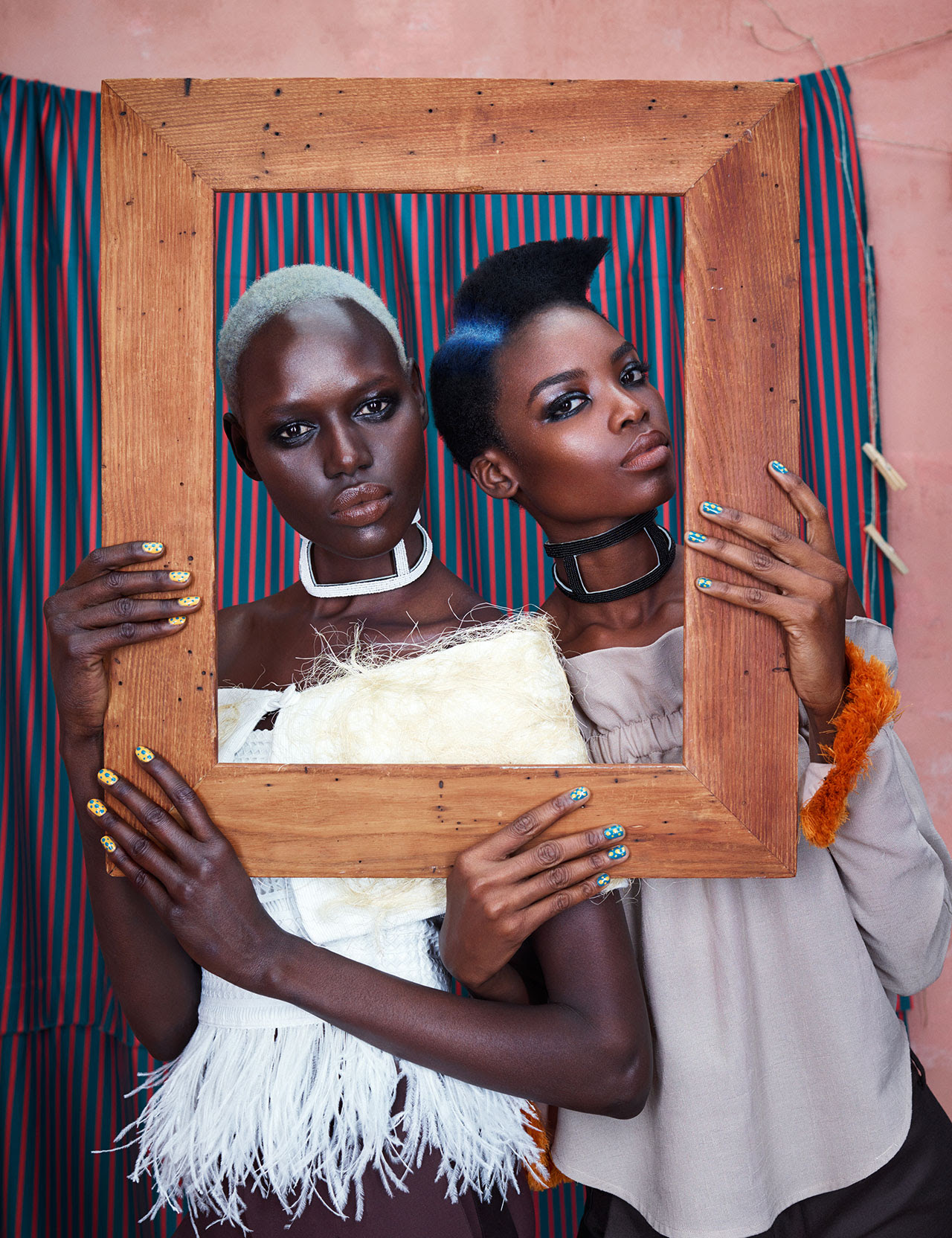 AFRICA RISING: Ajak Deng & Maria Borges for models.com January 2016