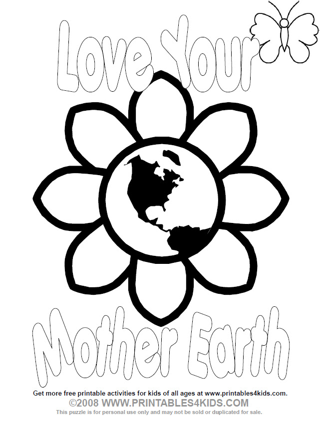 earth day coloring pages 2013 - photo#35