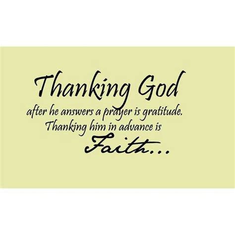 Thank You For Answered Prayers Quotes