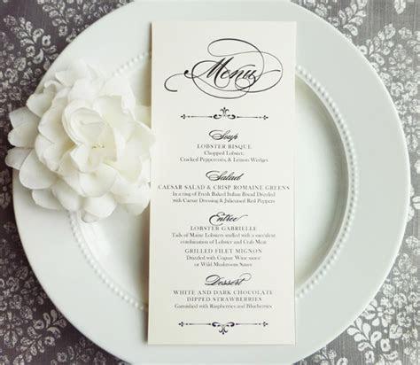 FREE 30  Wedding Menu Templates in PDF   PSD   Word