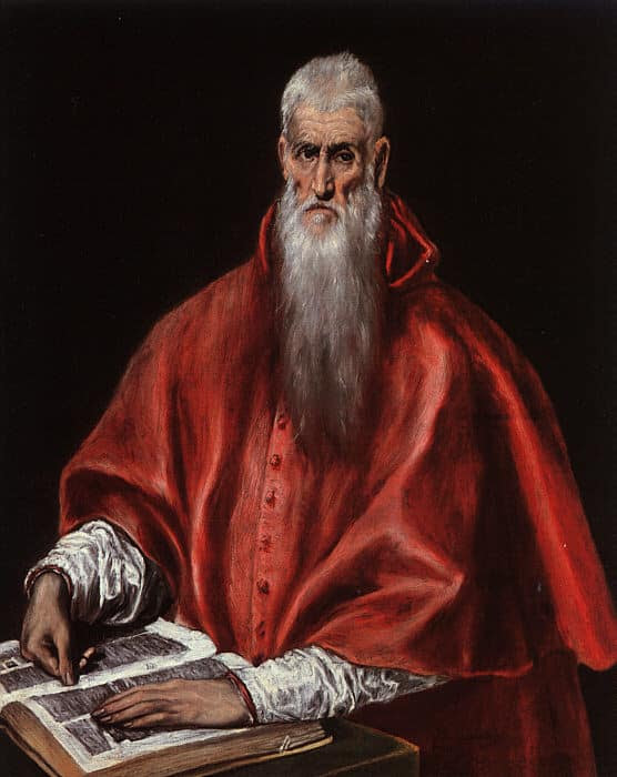 St.-Jerome read the bible