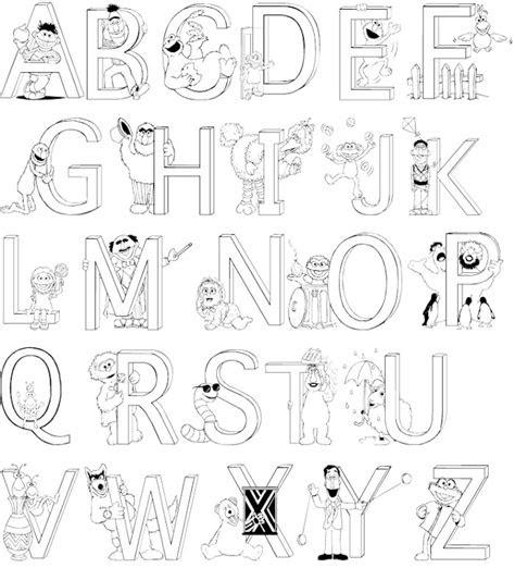 alphabet coloring pages   print