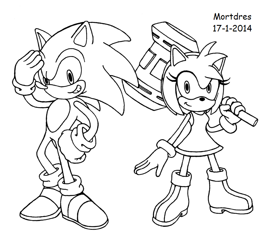 Sonic and Amy by Mortdres on DeviantArt