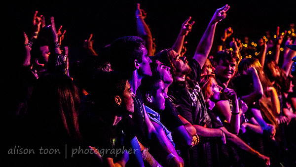 Fans watching Sabaton, Ace of Spades, Sacramento