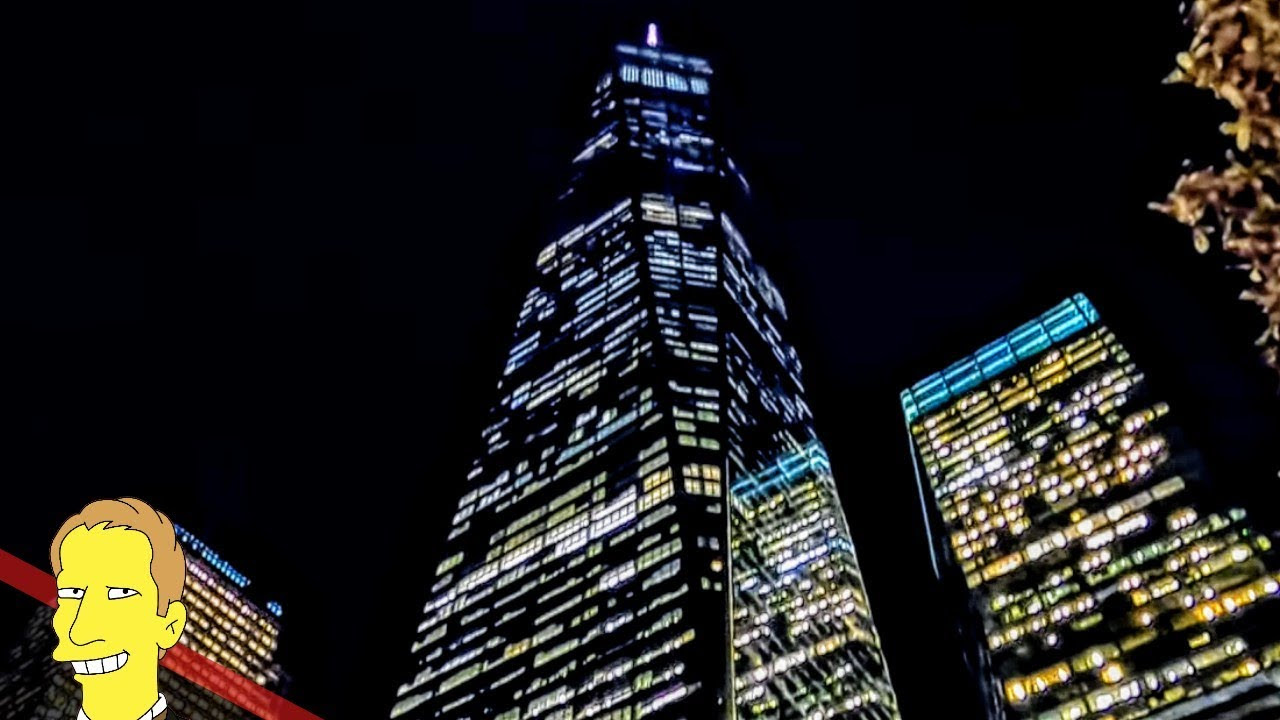 Looking up at One World Trade Center building in New York