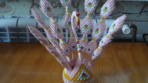 origami yaratici tavuskusu tasarimi