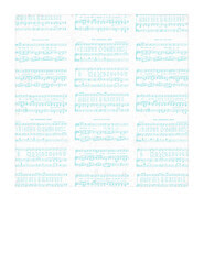 7x7 inch square Christmas Sheet Music WHITE & TURQUOISE Vintage GF SMALL SCALE