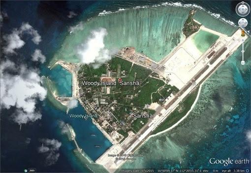 Woody Island - Google Map - China Send HQ9-SAM