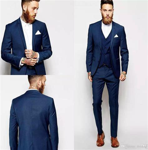 Latest Coat Pant Design Groom Tuxedos Groomsmen Slim Suits