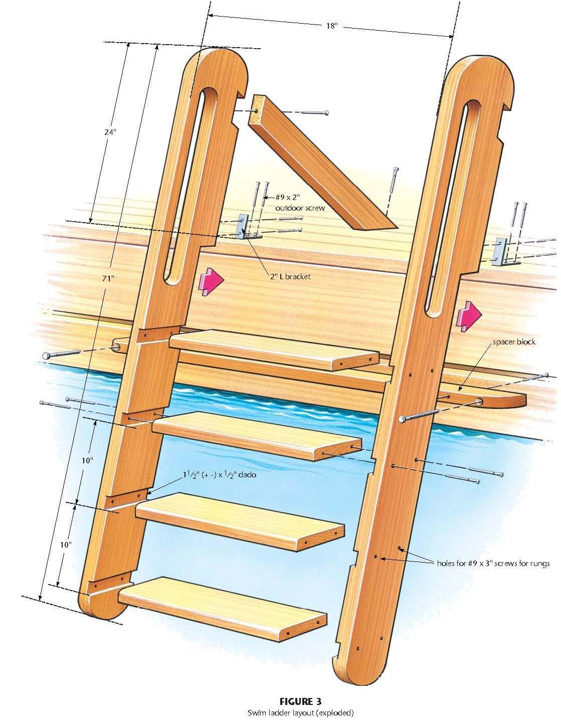 Woodworking wooden wood ladder plans PDF Free Download