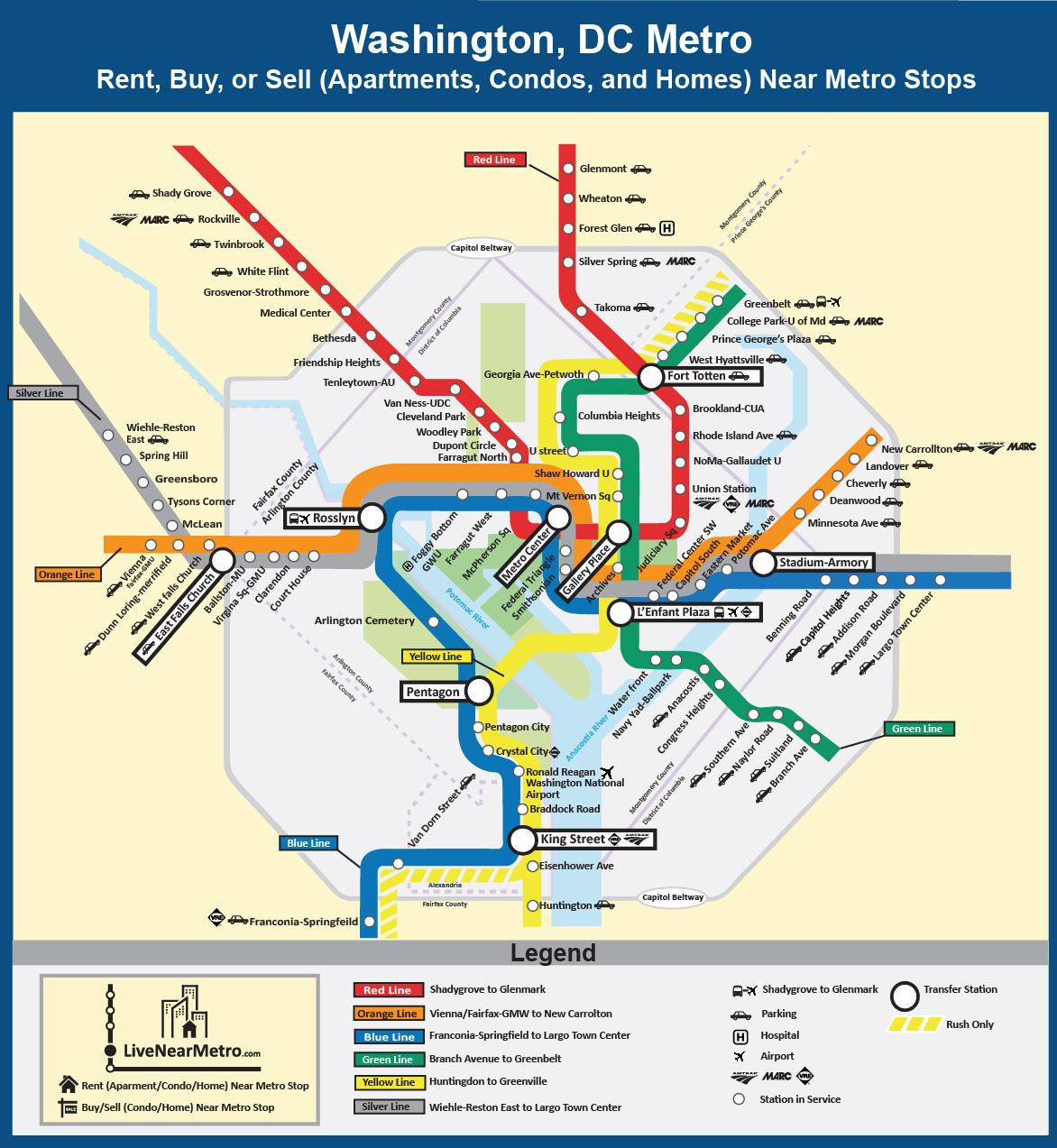 Dmv Metro Map | States Maps on