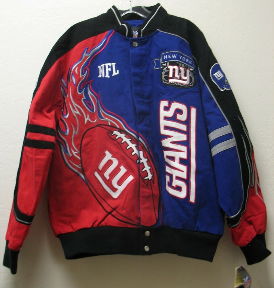 NEW YORK GIANTS Twill Flames Jacket OFFICIAL NFL Team Apparel New With Tags NWT  eBay