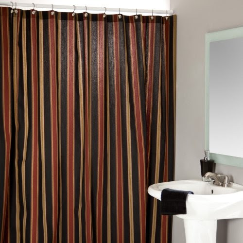 Chooty Beauville Stripe Shower Curtain - traditional - shower