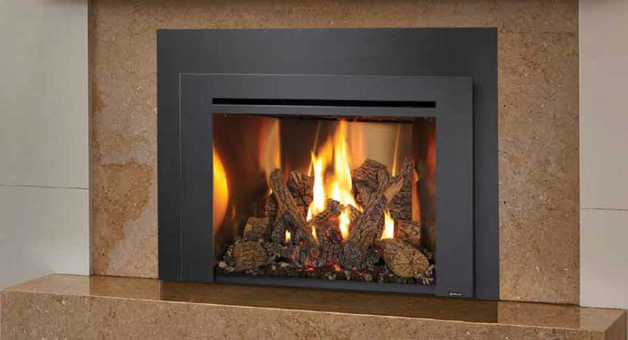 Gas Fireplace Inserts Convenient Clean Comfortable On Fire