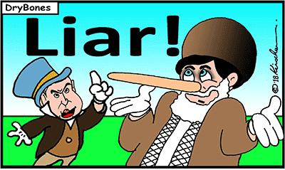 Dry Bones cartoon, Israel, Iran, Lies, nukes, Bibi, Netanyahu,