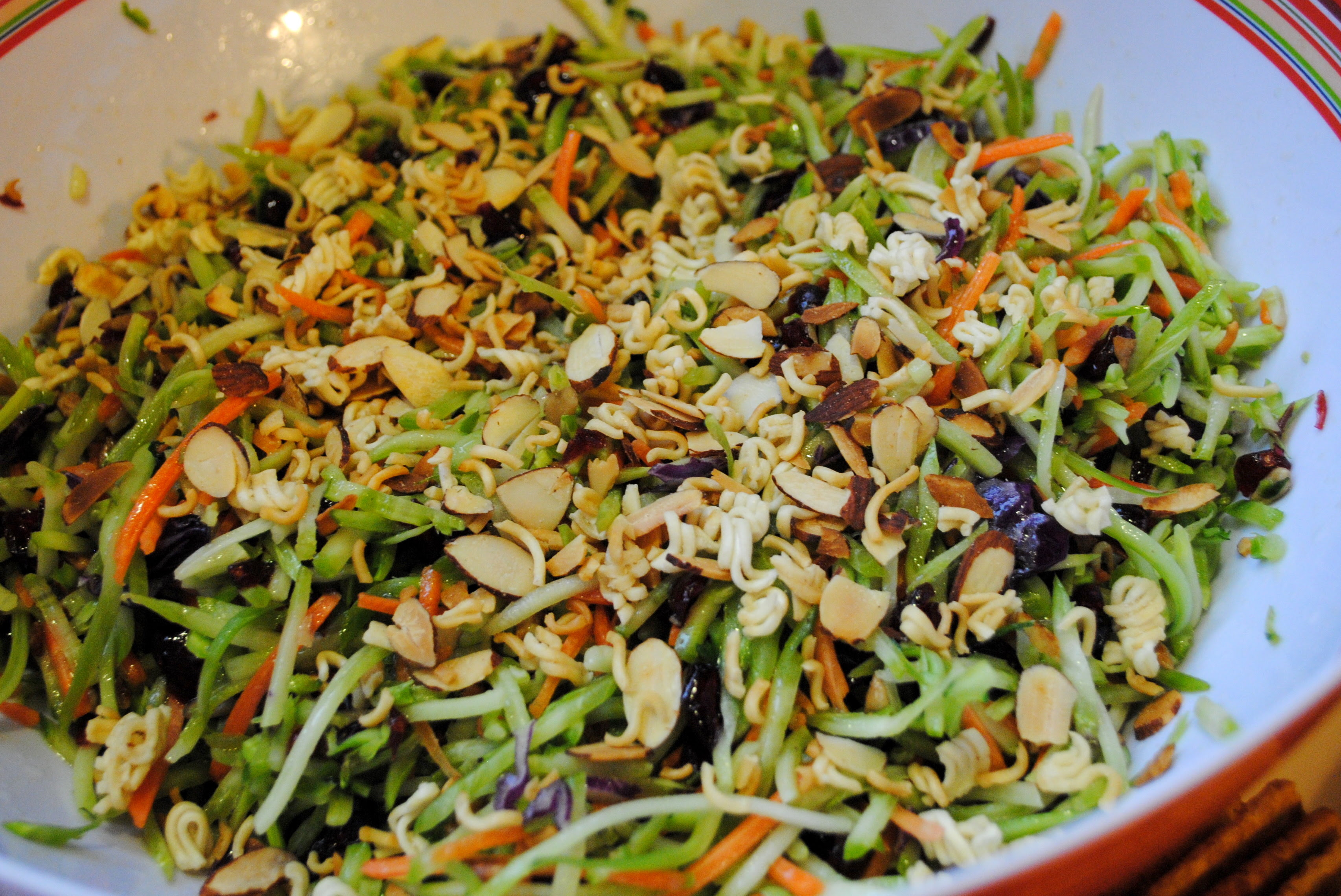 Broccoli Slaw great for potlucks or cookouts