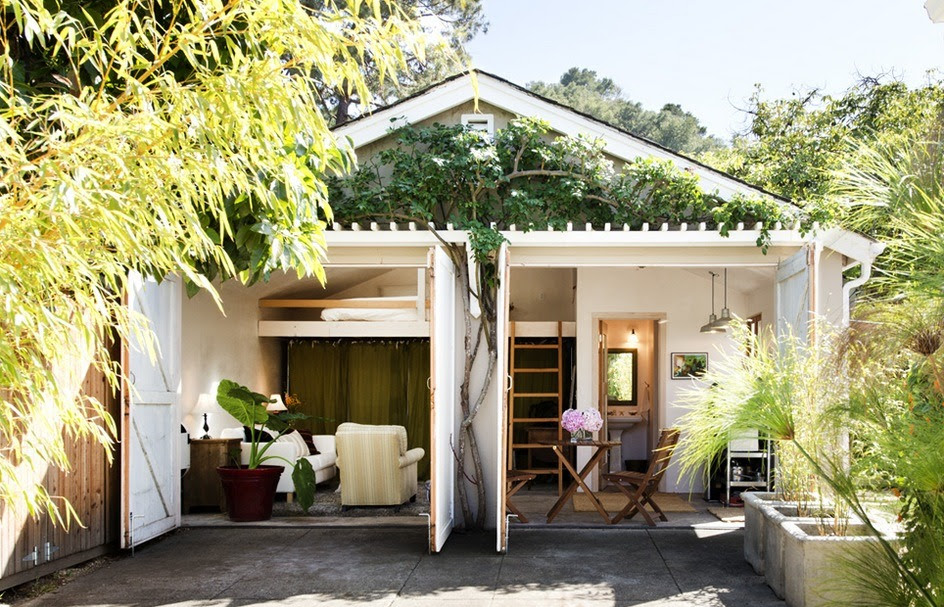 Two-Car Garage Converted into Backyard Tiny Cottage