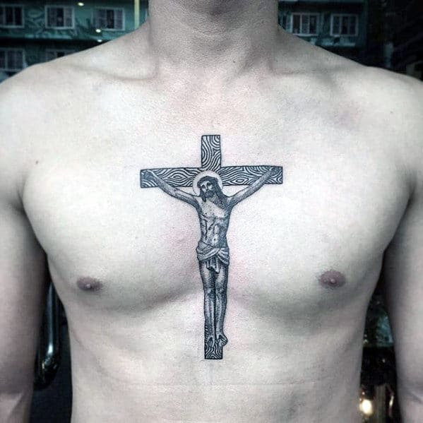 40 Jesus Chest Tattoo Designs For Men Chris Ink Ideas