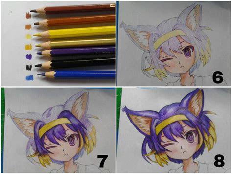 tutorial  coloring tutorial colored pencils anime