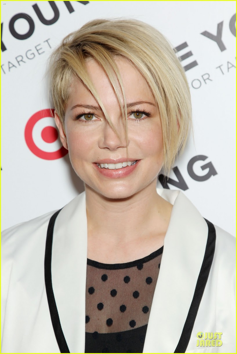 Michelle Williams Haircut Debut At Kate Young For Target Launch