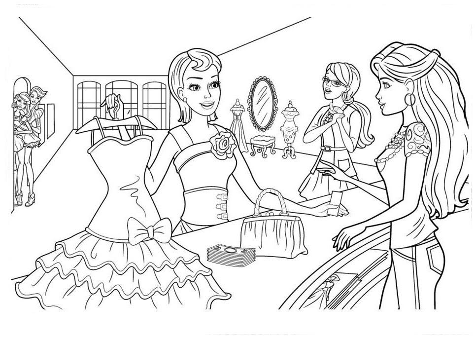 Incrível Desenhos Barbie Castelo De Diamantes Para Colorir