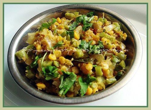 Amaranth Stalks & Channadal Stir fry