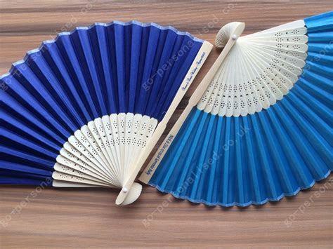 Customized hand fan silk fans bulk cheap wedding favours