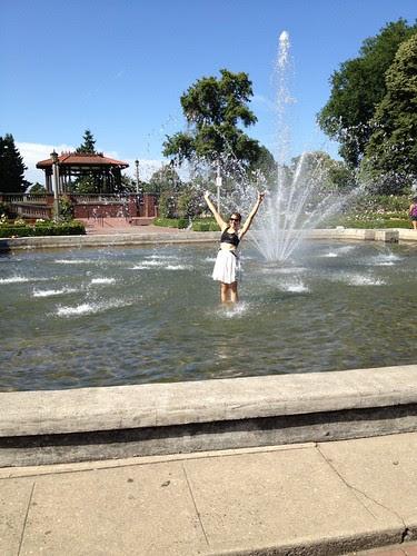Organizer Lisa cools off at Peninsula Park