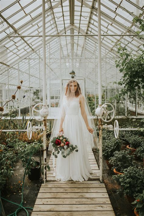 Hatley Castle Greenhouse   Styled Bridal Session   Myrtle