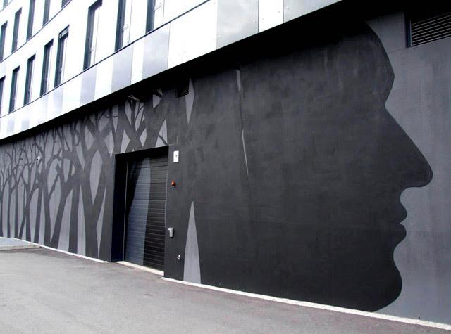 New Murals by David de la Mano and Pablo S. Herrero on the Streets of Norway trees street art Norway murals
