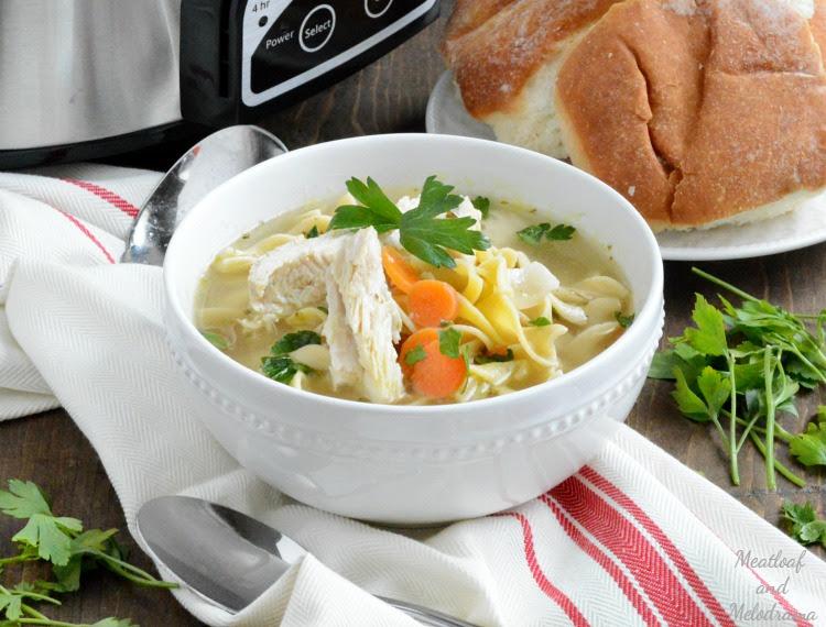 Easy Crock-Pot Chicken Noodle Soup - Meatloaf and Melodrama