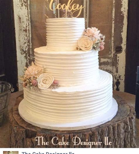 Rustic Buttercream Wedding Cake   CakeCentral.com
