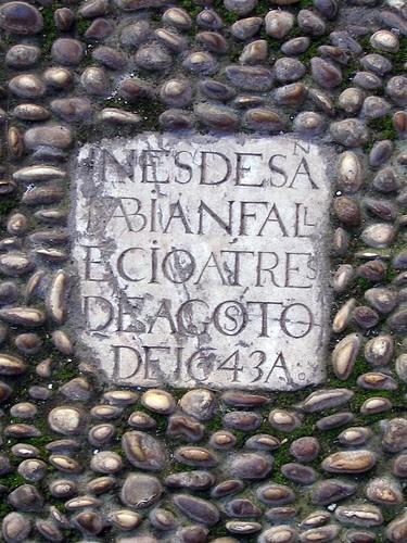 Lápida Convento Santa Paula