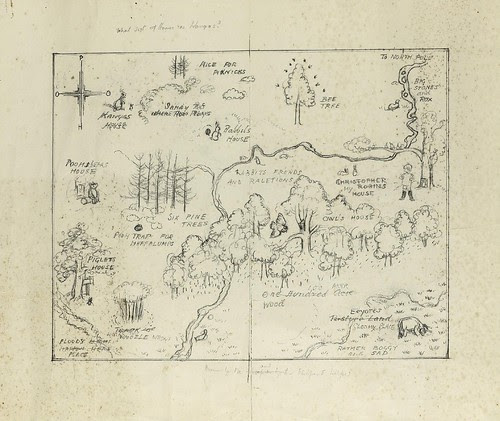 Preparatory Sketch-Map for Endpapers Of Winnie-the-Pooh