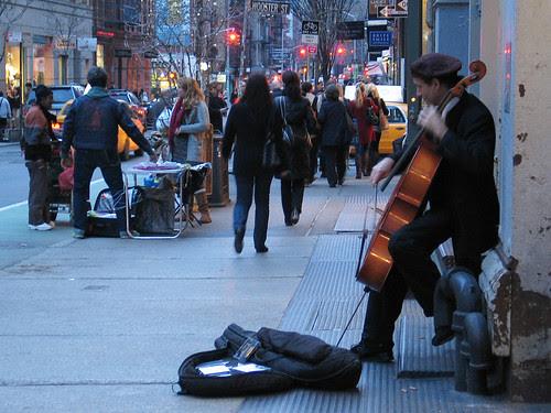 Cello Solo, Soho, NYC