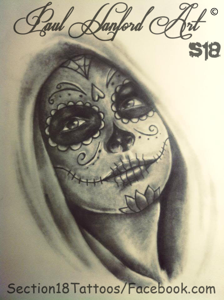 Day Of The Dead Girl Tattoo Sketch Nemetasaufgegabeltinfo