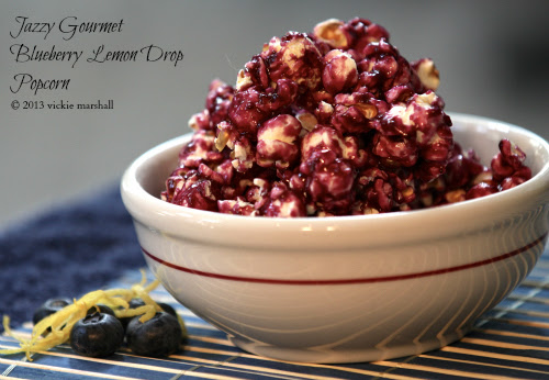 Blueberry Lemon Drop Popcorn