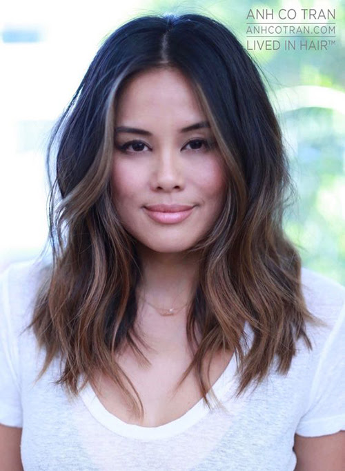 46 Popular Hair Style Woman Middle Length